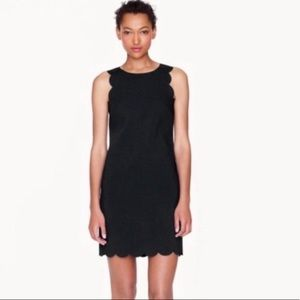 J Crew Scalloped Little Black Dress Sz 8 Awesome!